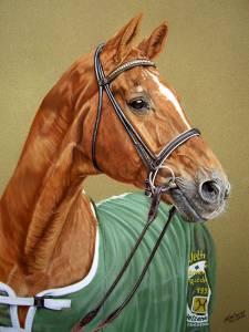 Pferdezeichnungen / Horse paintings - Hannoveraner / Hanoverian horse WELTMEYER
