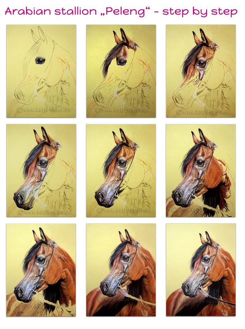 Painting progress step by step by Katja Sauer