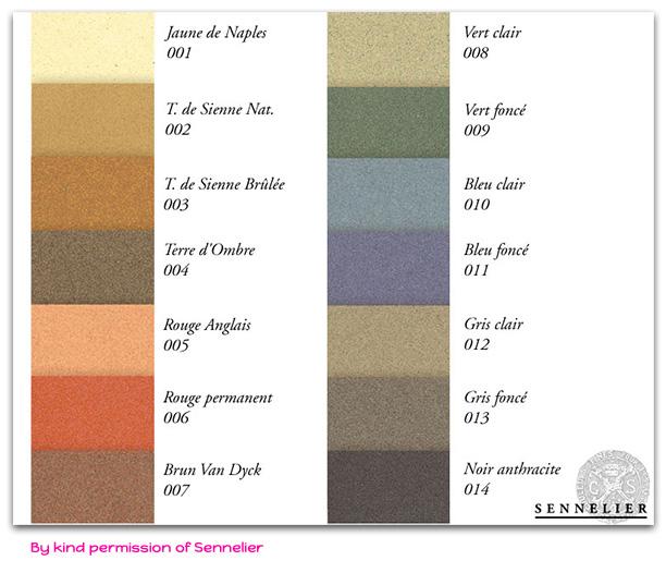 Farbkarte-Pastel-Card-von-Sennelier-englisch