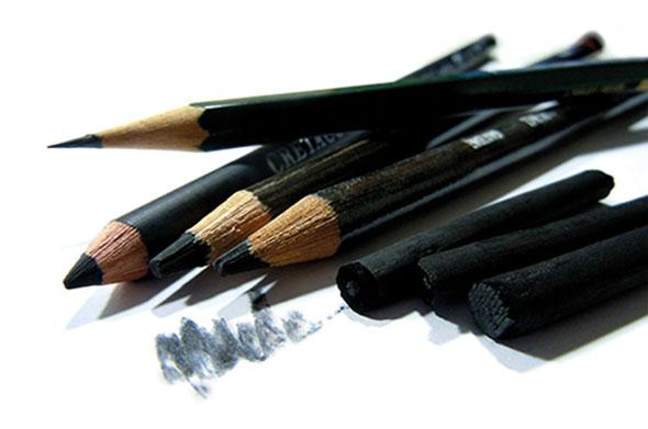 Bleistift, Graphit und Kohle von Katja Sauer