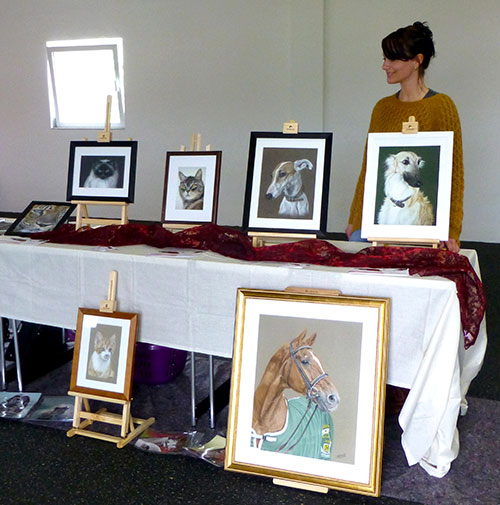 Exhibition of animal portraits and animal drawings by Katja Sauer