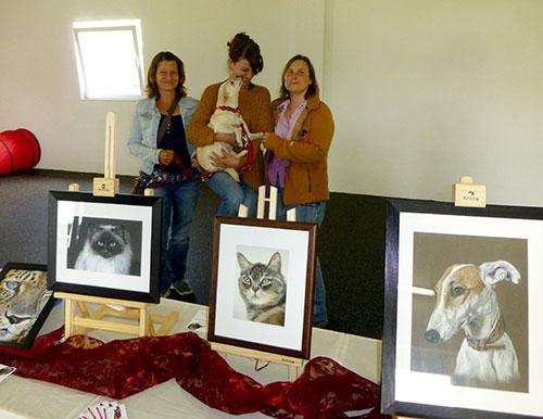Ausstellung Tierzeichnungen und Tierportraits von Katja Sauer
