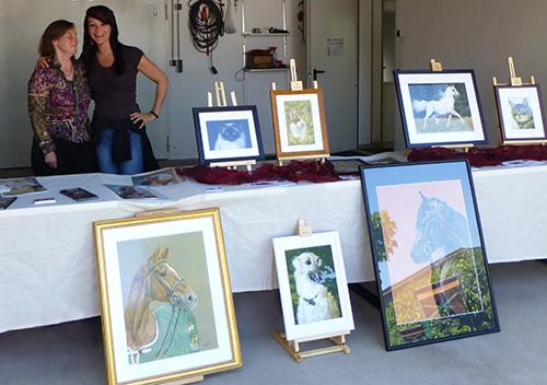 Ausstellung Tierzeichnungen von Katja Sauer