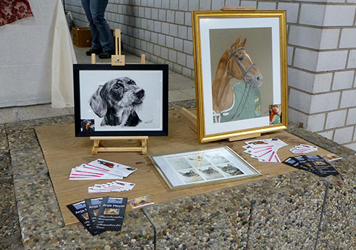 Exhibition animal paintings and animal drawings by Katja Sauer
