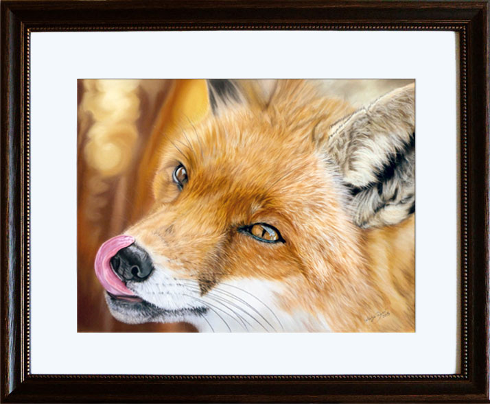 Fox - soft pastels on Pastelmat by Katja Sauer