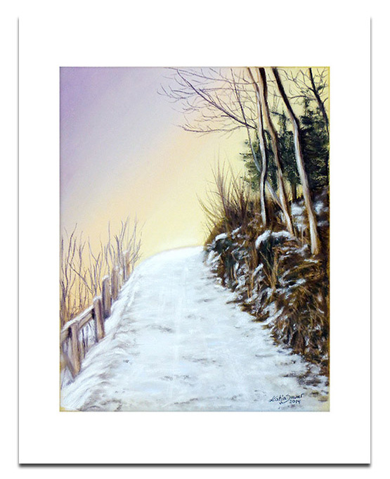 Landscapes in soft pastels - winter landscape by Katja Sauer