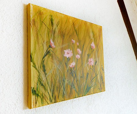 Acrylic flowers painting by Katja Sauer