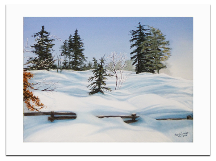 Landscapes in soft pastels - Winter landscape in soft pastels by Katja Sauer