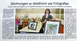Tierzeichnungen und Tierportraits Katja Sauer Pressebericht Acher- und Bühler Bote