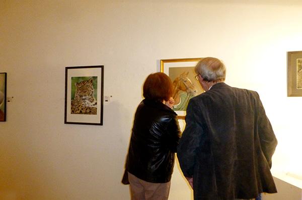 Ausstellung im Alten Dampfbad in Baden-Baden - Tierzeichnungen und Tierportraits von Katja Sauer