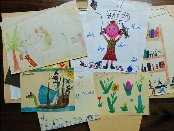 Zeichnungen von Katja Sauer - wie alles begann...