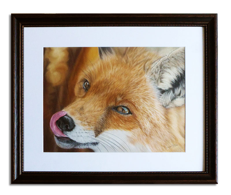 Fox in soft pastels by Katja Sauer