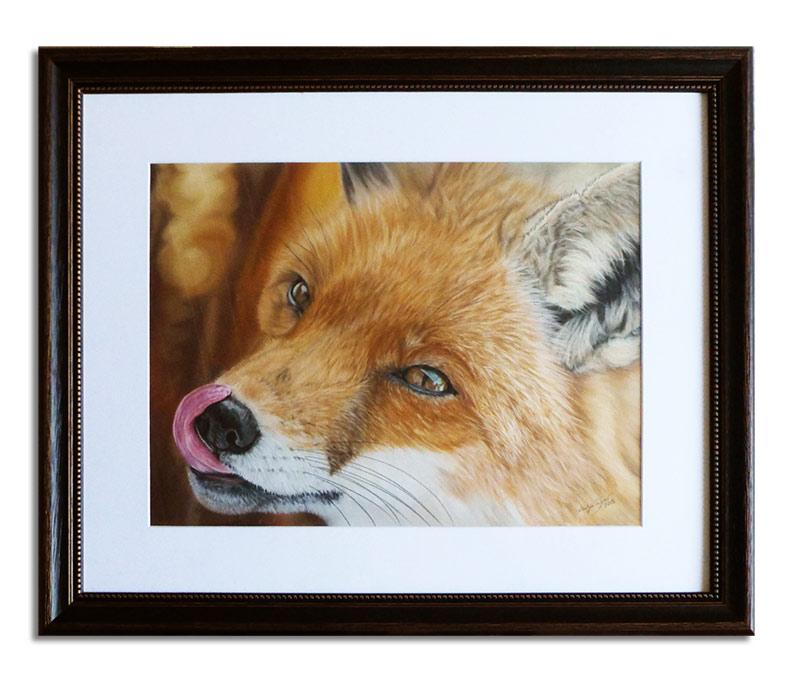 Fuchs in Pastellkreide von Katja Sauer