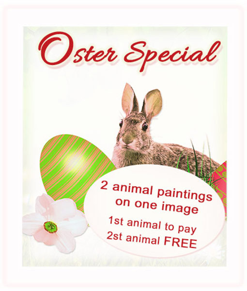 Easter Special Offer 2015 - Animal paintings and animal portraits by Katja Sauer