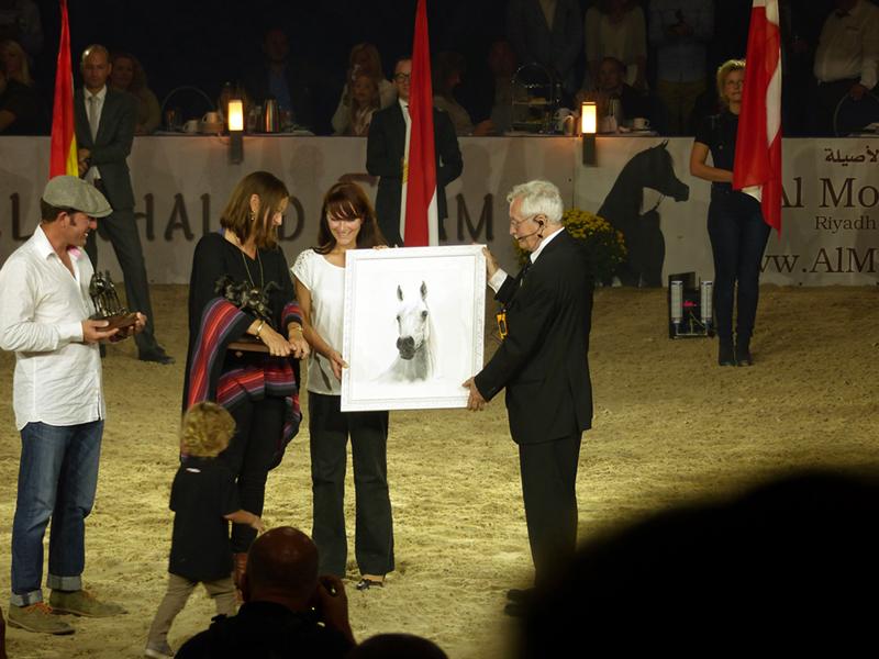 """Estopa in Pastellkreide von Katja Sauer - """"Lifetime Achievement Award"""" beim ANC 2016 in Aachen"""