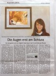 Article about my animal portraits in the paper 'Badisches Tagblatt BT'