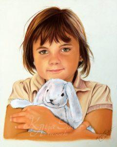 Pastellkreidezeichnung Kinderbild von Katja Sauer