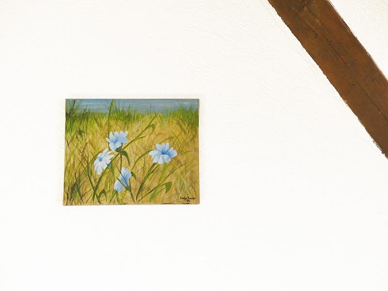 Tag am See von Katja Sauer - Acryl auf Keilrahmen (24 cm x 30 cm)