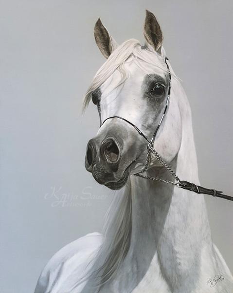 Fine Art Print AL LAHAB - Tierzeichnungen und Tierportraits in Pastellkreide  von Katja Sauer