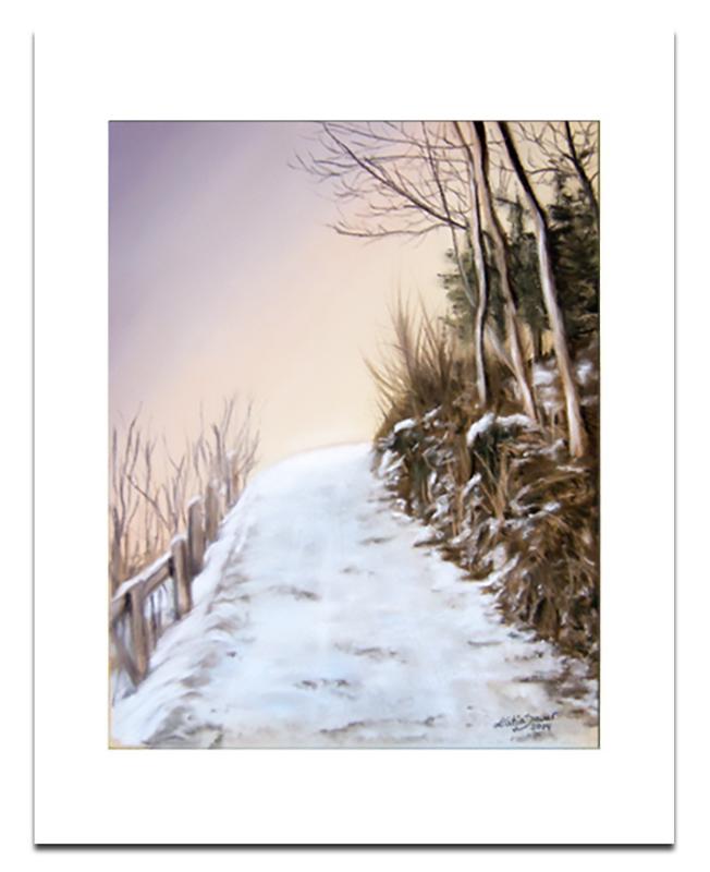 Winterweg_Pastell_Katja_Sauer
