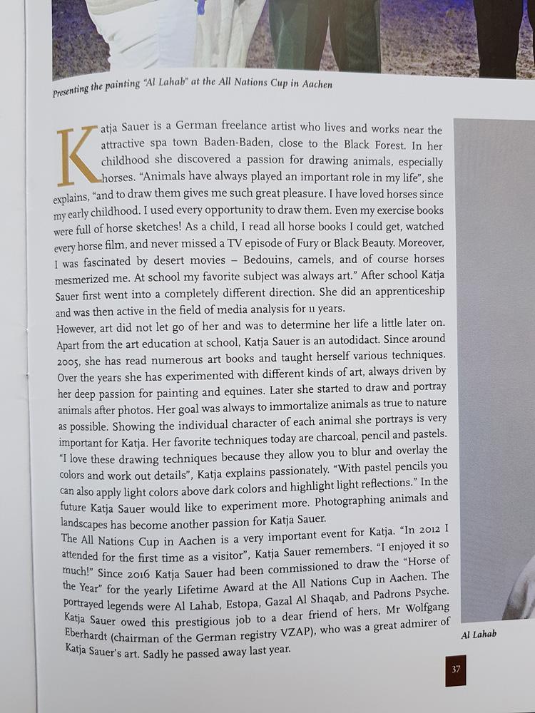 Pferdezeichnungen von Katja Sauer im Arabian Horse Letter
