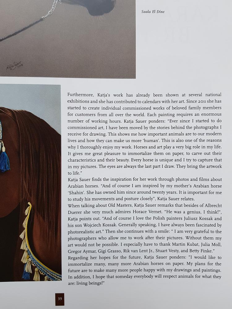 Artikel über Pferdeportraits von Katja Sauer