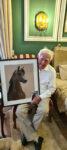 Pferdeportraitzeichnung NK Nahan für Herrn Dr Hans-Joachim Nagel