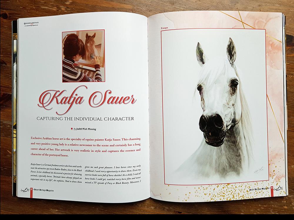 Gezeichnete Tiere von Katja Sauer in Zeitschrift